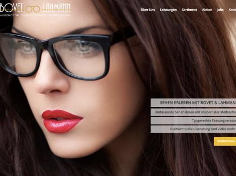 Webdesign für den Augenoptiker Bovet & Lahmann: Startseite